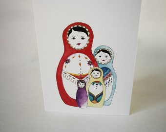 Matrioshka Mothers Day Cards