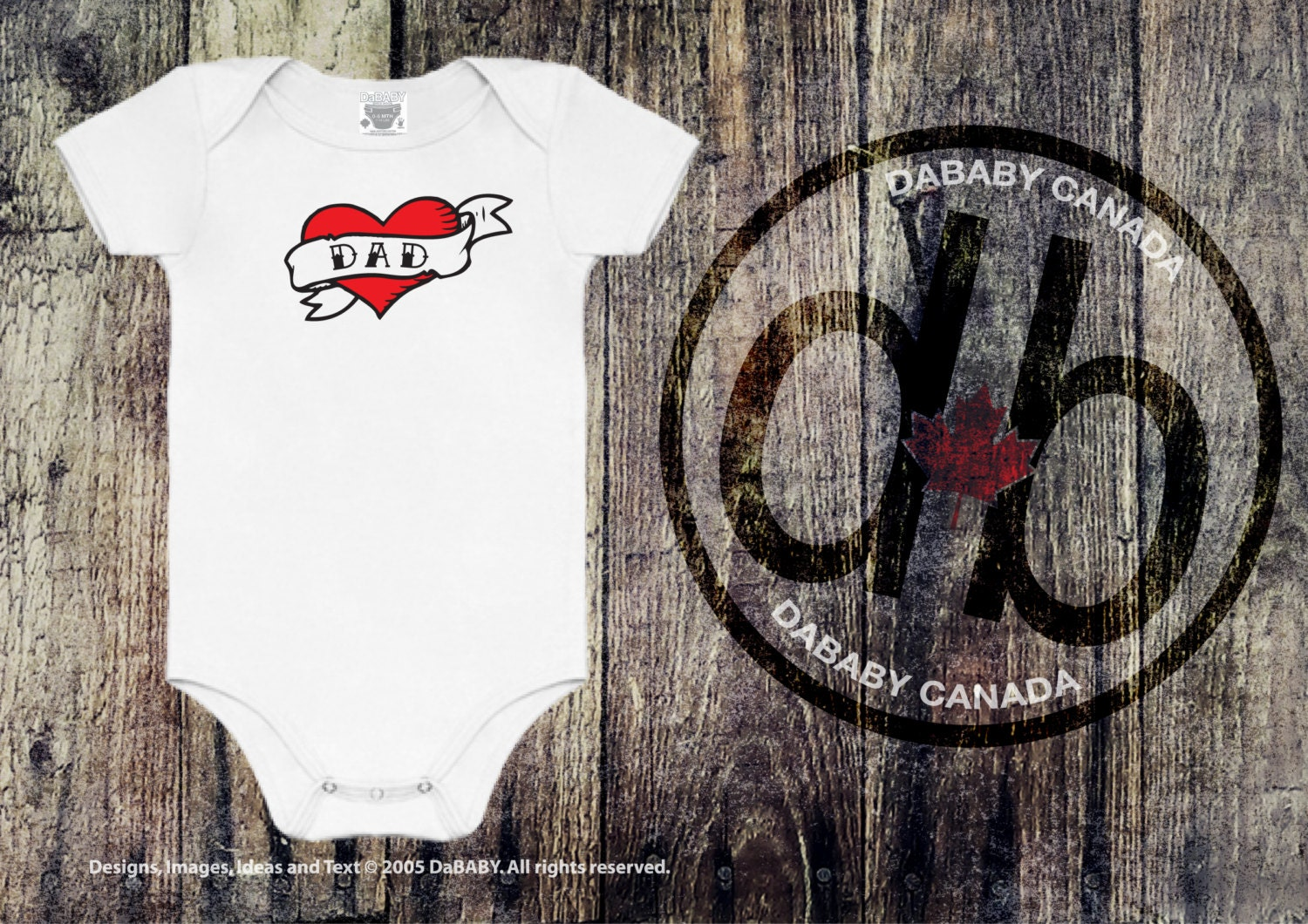 Newborn baby outfit fathers day tattoo dad onesie i zoom negle Choice Image