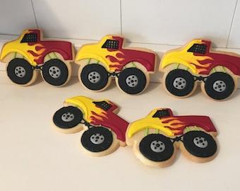 Monster Truck Cookies - 1 dozen