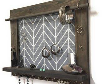 Wood Frame Jewelry Organizer