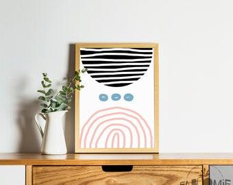 Sublimation II, printable poster, abstract art, Modern art, gallery wall, MCM art, Retro art, abstract art, MCM poster, Retro poster, 8 x 10
