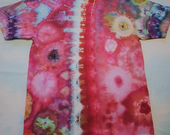 Custom Designed Ice Dyed Tie Dye Geode T-shirt in Adult and Children Sizes