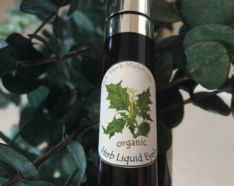NEW! Organic Herb Liquid Eyeliner, Plant Pigment , Zero Mineral,Vegan Eyeliner