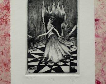 13: Death - limited edition fine art intaglio etching
