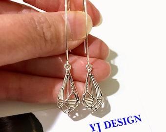 Gem Shape Earrings, Diamond Shape Earrings, Sterling Silver Earrings, Art Deco Earrings, Minimalist Earrings, Geometric Earrings, DIAMANT