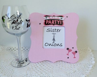 Girl's Night Out - Embellished Picture Frame - Bachelorette Party Picture Frame