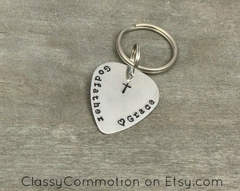 Godfather Key Chain - Custom Hand Stamped