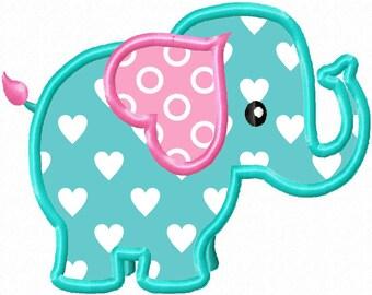 Lil' Elephant...Applique Machine Embroidery DESIGN NO. 27