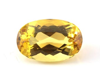 Beryl Golden Yellow Heliodor | loose golden beryl loose golden beryl | faceted oval | loose gemstone 8.93 ct | large size