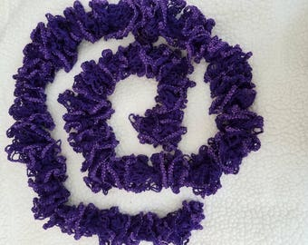 Purple Sprakle Handmade Knitted Scarf