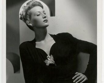 Vintage 1942 Film Noir Photograph Classic Hollywood Femme Fatale Louise Allbritton Original Ray Jones Glamour Portrait