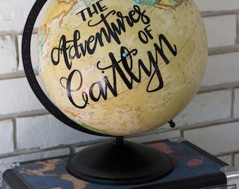 Personalized 12 inch Cream Globe