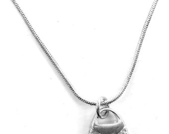 Sterling Silver Purse Pendant and Necklace