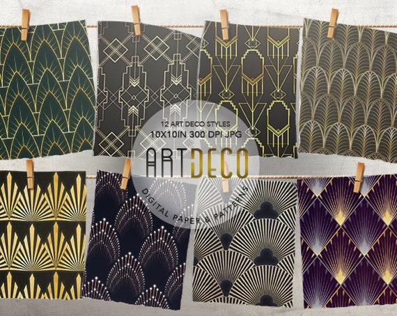 art deco papier art deco tapete gold muster goldene. Black Bedroom Furniture Sets. Home Design Ideas