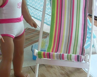 Folding Sand Chair for American Girl Dolls