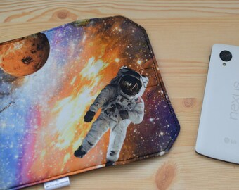 Womens wallet,mens wallet,coin purses,space print,universe print,starship coin purse,astronau print,spaceman wallet,fabric coin purses