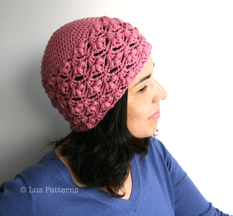 Crochet hat pattern instant download crochet women beanie zoom baditri Images