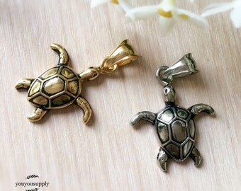 Clearance-Cute Tortoise Turtle Stainless Steel Pendant Charm