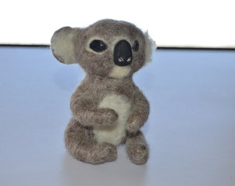 Koala bear felted toy