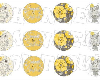 Made to Match Gymboree M2MG Bright Owl bottlecap image sheet