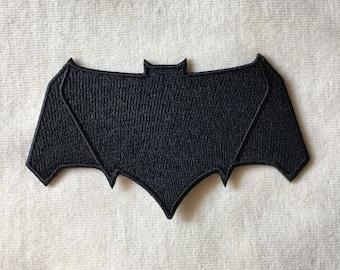 Batman Super Hero Logo Iron On Patch #All Black #2