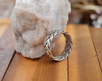 Viking rings,Braided rings,men gifts,Celtic eternity ring,Popular Asgard ring,Celtic braided knot ring.