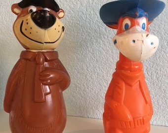 Yogi Bear and Quick Draw McGraw Soaky Bank  1960s Collection