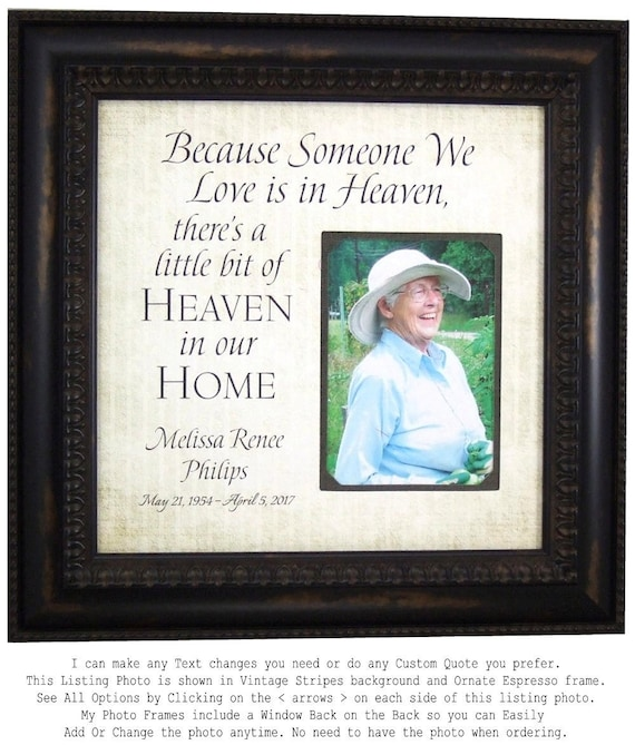 In Memory Frame Memorial Gift Personalized Remembrance Gift