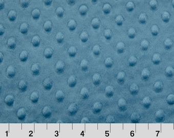 French Blue Dimple Minky From Shannon Fabrics