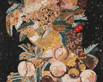 Fruits Bouquet Contrasting Background Mosaic FL901