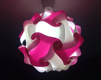 Light Rose sphere and white lamp puzzle