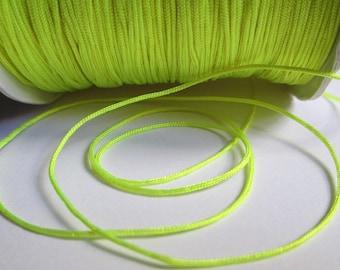5 m 0.8 mm neon yellow nylon string