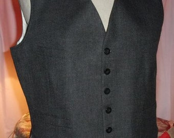 Old gray vest for men, vintage
