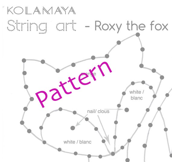 string art tutoriel mod le roxy le renard. Black Bedroom Furniture Sets. Home Design Ideas