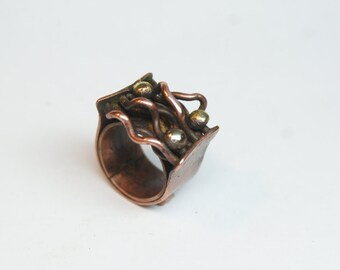Boho style ring Mother Uniquer ring Gifts for mom Bohemian ring Copper jewelry Gihts for her Boho copper ring