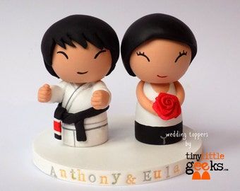Wedding Cake Topper - Sports and Karate Custom Wedding Cake Topper