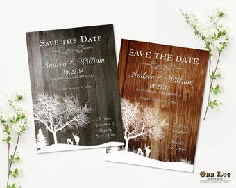 Printable Wedding Save the Date, Rustic Save the Date, Deer Save the Date Announcement DIY Printable Card,  Woodland Save the Date Printable
