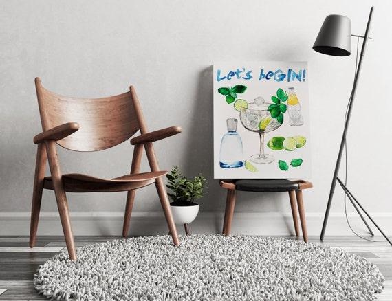 Let's beGIN!  | artwork | art prints | canvas art | framed art | art posters | watercolor art | giclee prints  | wall art | cocktail art