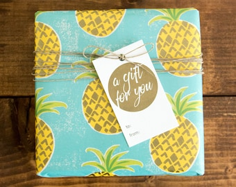 A Gift For You Letterpress Gift Tag - Set of 6