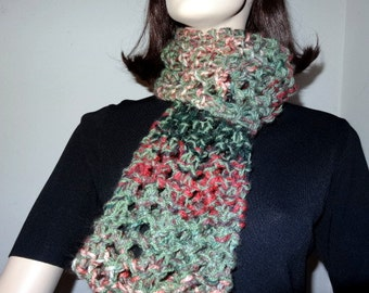 Lacy Infinity Scarf - green, dark green, pink, wine - FREE SHIPPING