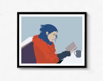 Eternal Sunshine of the Spotless Mind Poster- Minimalist Print, Clementine