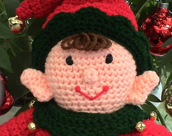 Christmas CROCHET PATTERN PDF Amigurumi Easy Santa Elf Doll Ernie Elf