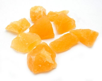 Orange Calcite By Weight - 1/2 or 1 Pound (RK401B1) Chakra - Stones by pound - Wholesale stones