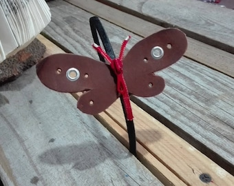 Headband red dragonfly