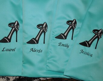 Bridal Party Personalized Travel Shoe Bags, Bridesmaids Gift, Made to Order