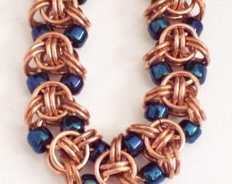 Copper Empressa Chainmaille Bracelet