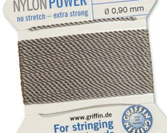 Bead Cord, .90 mm Nylon Twisted Bead Cord, Nylon Power Cord, Stringing Material, Blush Pink