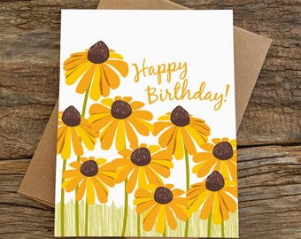 birthday card / black eyed susans