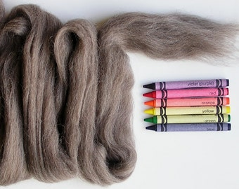 CORRIEDALE WOOL ROVING / Medium Undyed Natural 1 ounce / wool sliver for needle felting, wet felting, animal fur, fiber art, doll hair
