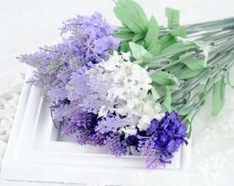 Artificial Flower / Artificial Lavender / Fake Flower / Fake Lavender / Faux Flower / Purple Lavender / Photography Props (FL2)